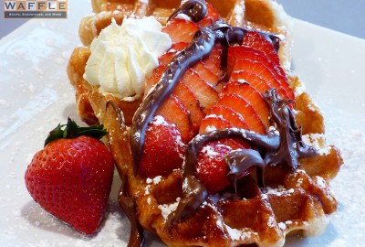 Strawberry Nutella Waffle Wicked Waffle Washington DC
